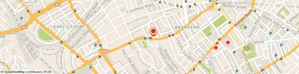 Route/map/directions to Senator Cars Ltd., SW5 0BA London, 168 Old Brompton Road