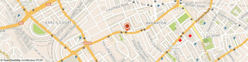 Route/map/directions to Shaukat & Co, SW5 0BA London, 170-172 Old Brompton Road