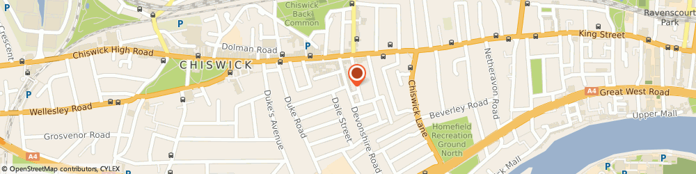 Route/map/directions to Cafe Zagora, W4 2HD London, 38 Devonshire Road