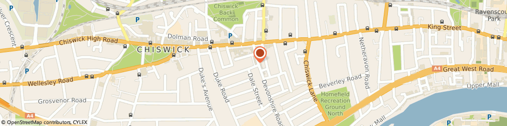 Route/map/directions to Malcolm Prior, W4 2HA London, 11 DEVONSHIRE MEWS