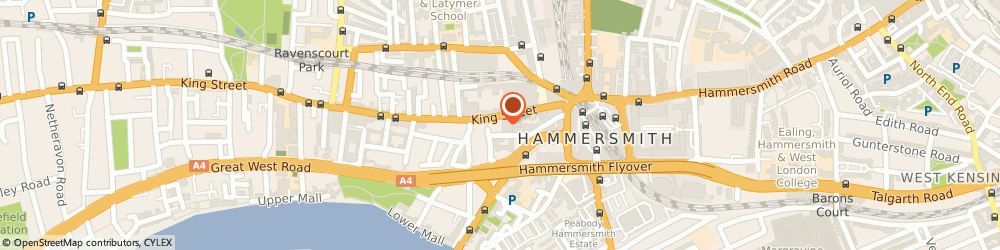 Route/map/directions to Clintons, W6 0QB London, 57 Kings Mall