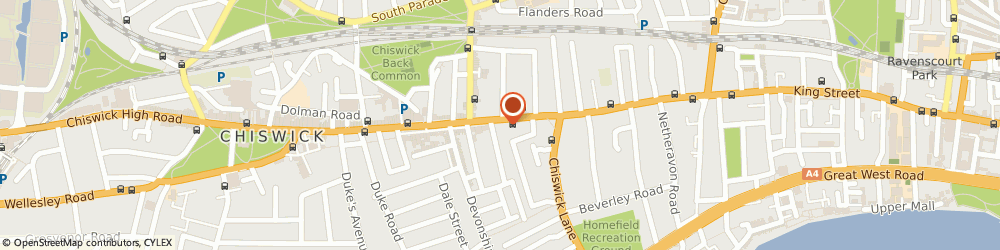 Route/map/directions to Insider Dealings (Chiswick) Ltd, W4 2ED London, 135 Chiswick High Rd