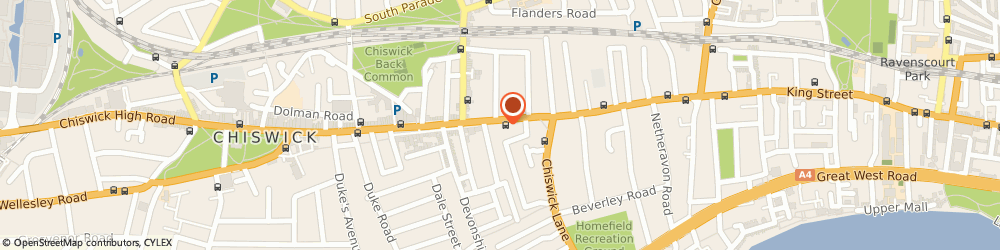 Route/map/directions to W S Bond Funeral Directors, W4 2ED Chiswick, 127 High Road