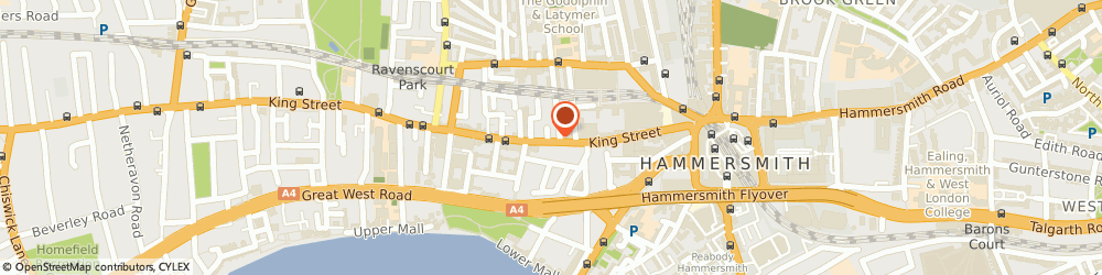 Route/map/directions to Kall Kwik Printing, W6 0QW London, 102 KING STREET