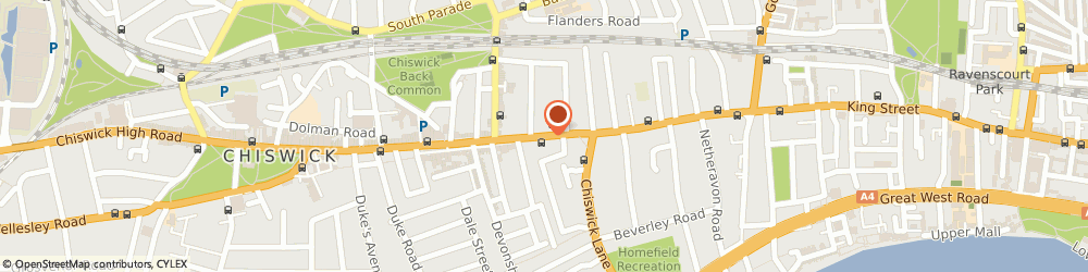 Route/map/directions to Four Star Dry Cleaners, W4 2ED London, 107 Chiswick High Road