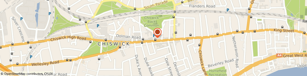 Route/map/directions to Riccado Designer Menswear, W4 1PD London, 204 CHISWICK HIGH ROAD
