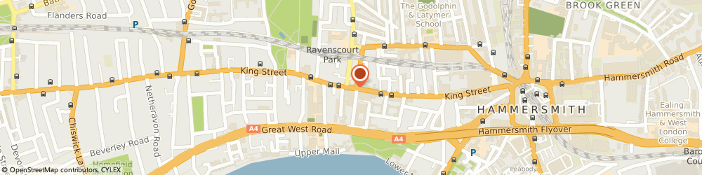 Route/map/directions to JANUARY ESTATE LTD, W6 9NH London, 317B King Street