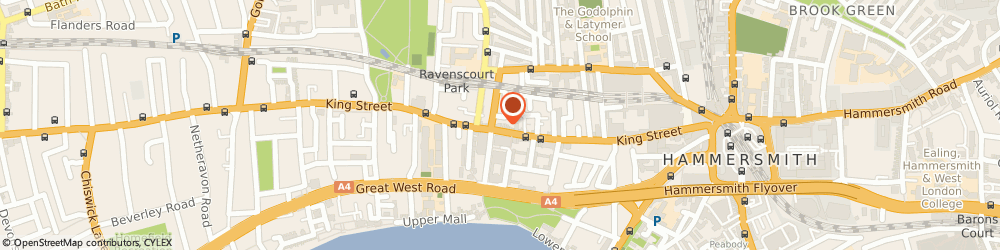 Route/map/directions to Post Office Limited, W6 0QU London, 168 King Street