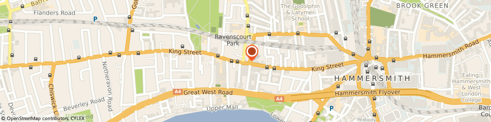 Route/map/directions to Portico, W6 0RA London, 178 King Street