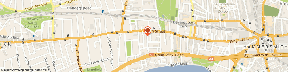 Route/map/directions to Chiswick Man & Van, W6 9AY London, St Peters Grove