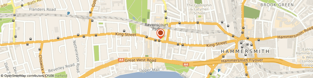 Route/map/directions to Bushells, W6 0RA London, 178 King Street