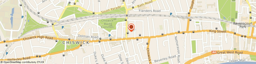 Route/map/directions to Patisserie Valerie - Chiswick, W4 1QP London, 24-26 Turnham Green Terrace