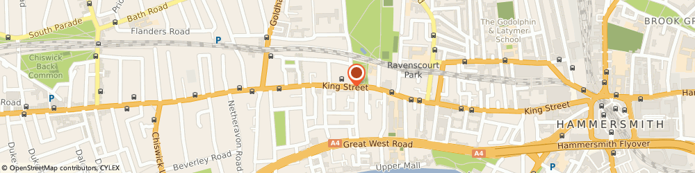 Route/map/directions to KFH Estate Agents, W6 0RA London, 180 King Street