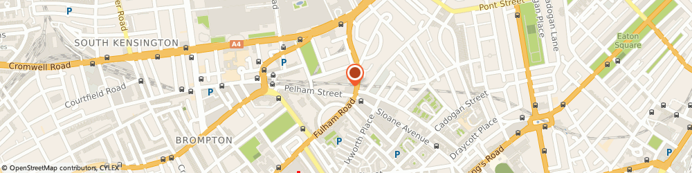 Route/map/directions to Issey Miyake (London) Ltd, SW3 2AW London, 270, Brompton Road