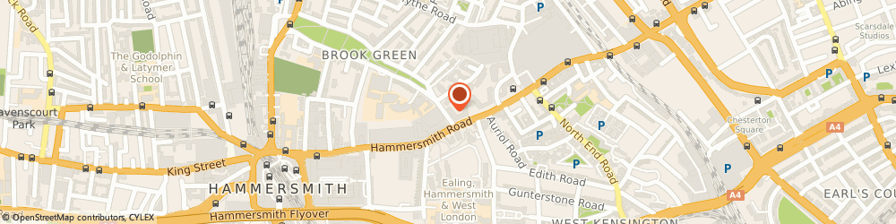 Route/map/directions to Marsh and Parsons, W14 8UD Greater London, 80 Hammersmith Road