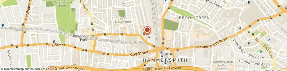 Route/map/directions to BVS, W6 0LH London, Britannia House, 11 Glenthorne Road