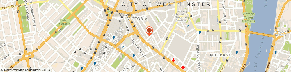 Route/map/directions to CRESSWELL ASSOCIATES (ENVIRONMENTAL CONSULTANTS) LIMITED, SW1P 1JA London, MANNING HOUSE, 22 CARLISLE PLACE