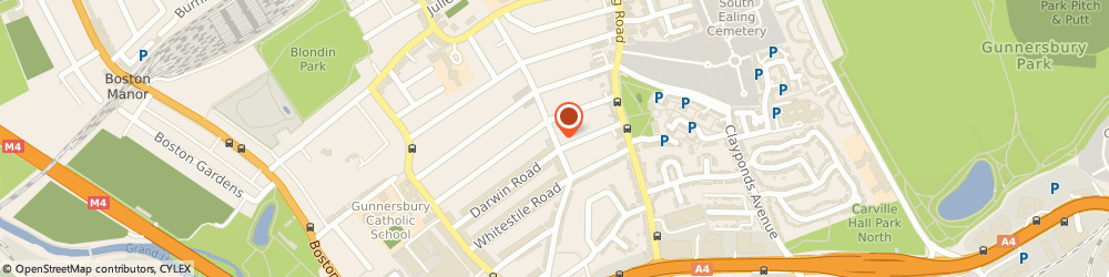 Route/map/directions to T V T Associates, W5 4XP London, 25 Junction Road