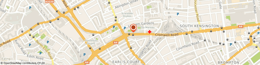 Route/map/directions to QUEENSWAY HOSPITALITY LIMITED, SW5 0SW London, TOWER HOUSE 2ND FLOOR, 226 CROMWELL ROAD