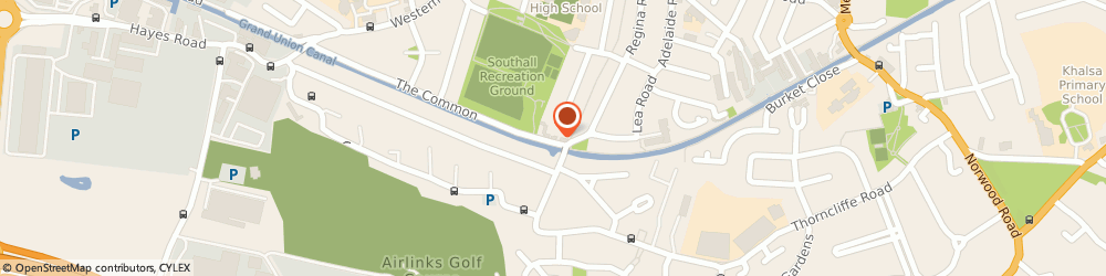 Route/map/directions to The Old Oak Tree, UB2 5PJ Southall, The Common