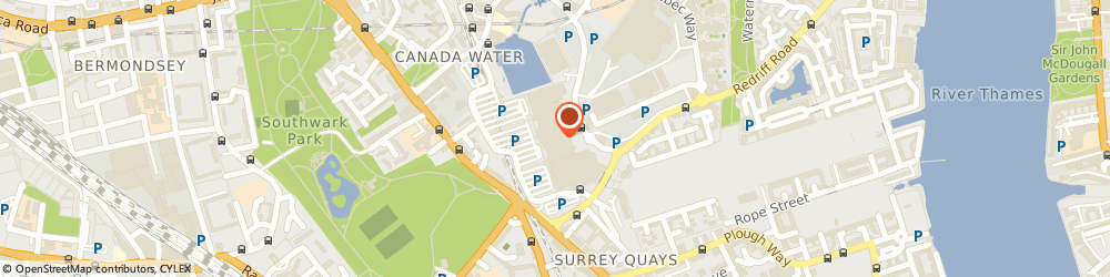 Route/map/directions to Surrey Quays, SE16 7LL London, Redriff Road