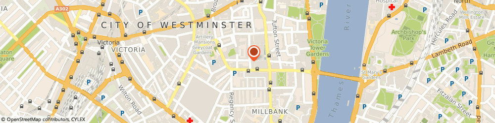 Route/map/directions to Party Bookings, SW1P 2BD London, 25 Medway Street