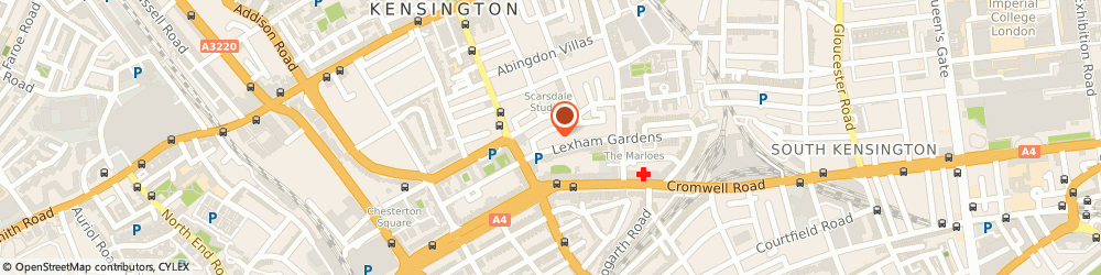 Route/map/directions to 124 Lexham Gardens Limited, W8 6JE London, FLAT 3, 124 LEXHAM GARDENS