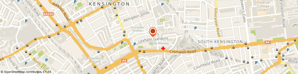 Route/map/directions to 100 Lexham Gardens Limited, W8 6JQ London, 100 LEXHAM GARDENS