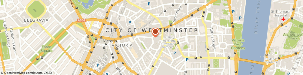 Route/map/directions to Thomas Pink Ltd, SW1P 1GW London, 10 Howick Place