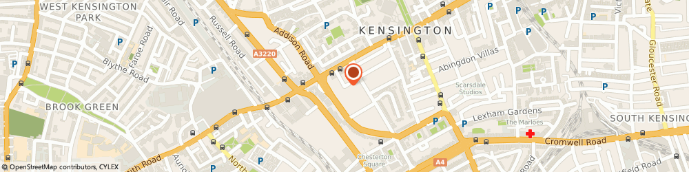 Route/map/directions to Fitness Clothing Manufacturer, W8 6LS London, 1 St. Mary Abbots Place