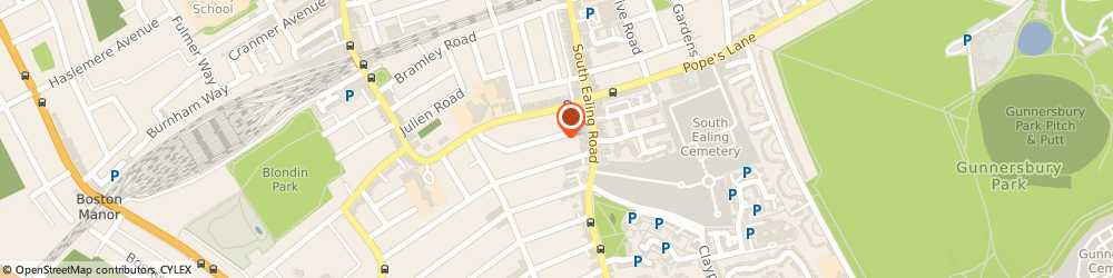 Route/map/directions to Stuart Bahn Guitar Tuition, W5 4EP London, 21 Chandos Avenue