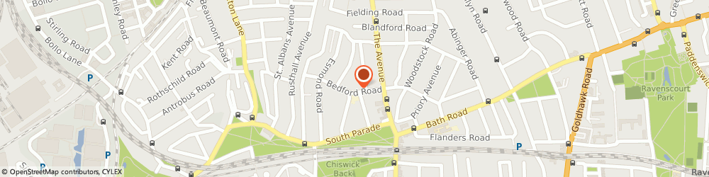 Route/map/directions to Adam Waite Tailored Menswear - W4 STORE, W4 1LD London, 2 Bedford Rd, South Parade
