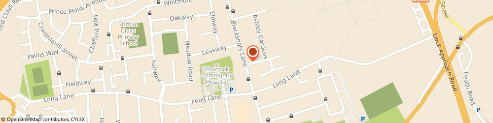 Route/map/directions to Oakfield Physiotherapy & Sports Injury Clinic, RM16 2LH Grays, 128 Blackshots Lane
