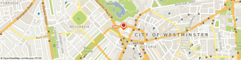 Route/map/directions to Exhibition Centre Hotels, SW1W 0BD London, 13 Grosvenor Gardens