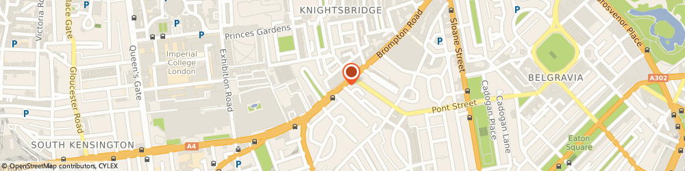 Route/map/directions to Pinko UK Ltd, SW3 1QP London, 161, Brompton Rd