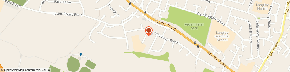 Route/map/directions to Castleview School, SL3 7LJ Slough, Woodstock Avenue