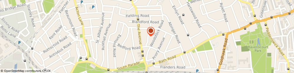 Route/map/directions to Skip Hire West London, W4 1TU London, 2 Queen Annes Gardens