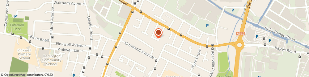 Route/map/directions to Pinnacle School of Motoring, UB3 4PB Hayes, 48 HYDE WAY