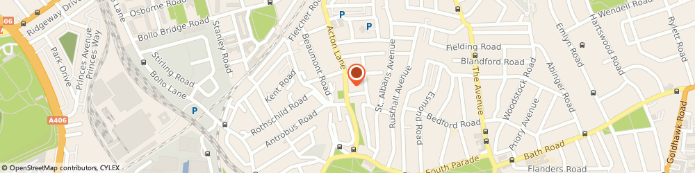 Route/map/directions to Chiswick Park Cars, W4 5HN London, 161A Acton Ln