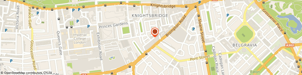 Route/map/directions to Pandora Dress Agency, SW7 1ES London, 16-22, Cheval Place