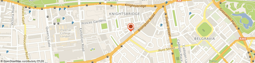 Route/map/directions to The Dress Box, SW7 1ES London, 8 CHEVAL PL