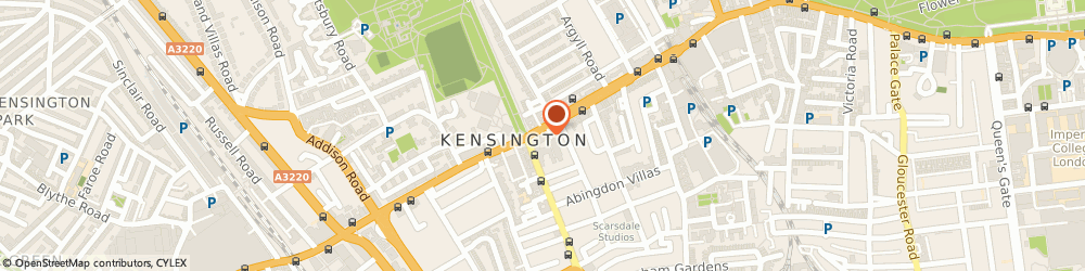 Route/map/directions to EG Chauffeurs, W8 6SN London, 239 Kensington High St,