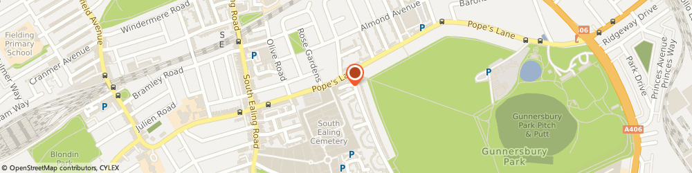Route/map/directions to MP Motors (Rental) Ltd, W5 4NG London, 10 The Pavement, Popes Lane