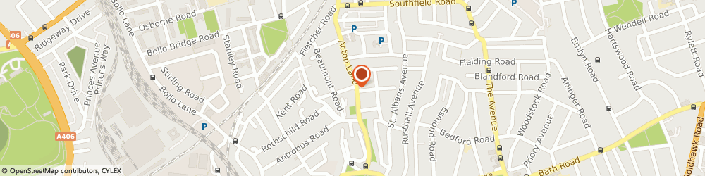 Route/map/directions to Courtesy Cars, W4 5DL London, 184 Acton Lane, Chiswick