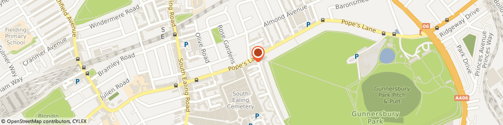 Route/map/directions to Caraclean Ltd, W5 4NG London, 7 The Pavement, Popes Lane