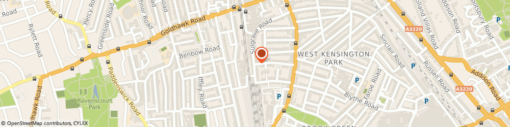 Route/map/directions to CAIGER AND CO CATERING LTD, W6 7QH London, 127 Sulgrave Rd