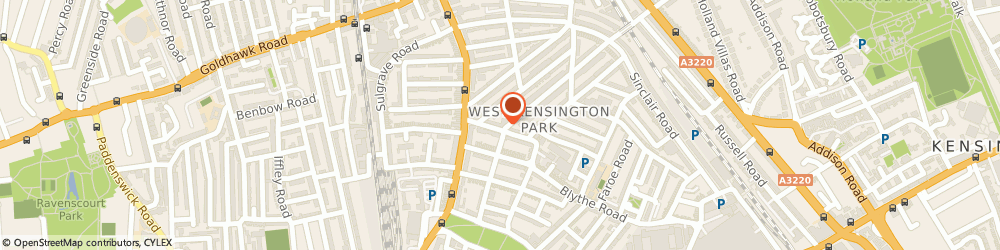 Route/map/directions to Eurotax Secretaries Ltd, W14 0HH London, 220C BLYTHE ROAD
