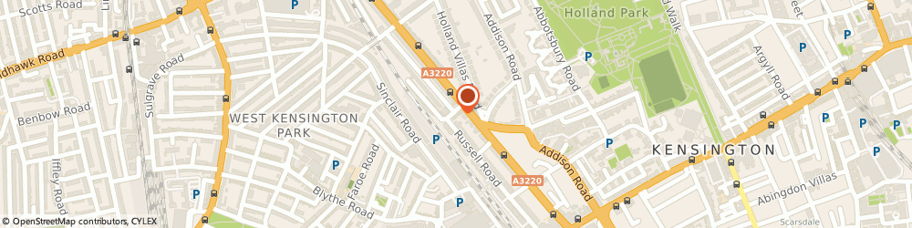 Route/map/directions to Mayfair Executive Chauffeurs, W14 8EZ London, 5B, Russell Gardens
