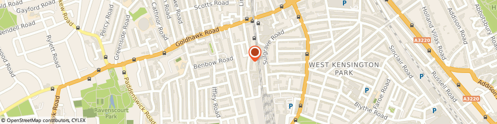 Route/map/directions to sue robinson, W6 7HJ London, 7 Richford St