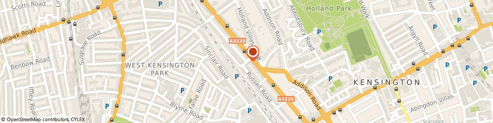 Route/map/directions to Savile Chauffeur Hire, W14 8EZ London, 5B, Russell Gardens